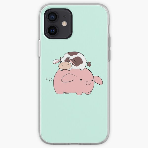 Big Pig Tiny Cow iPhone Soft Case