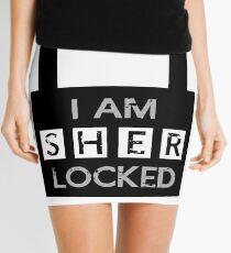 I am Sherlocked Mini Skirt