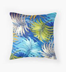 Fabric Art, Pattern, Tropical Palm Fronds Throw Pillow