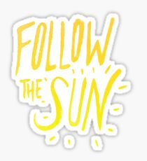 Follow the Sun Sticker