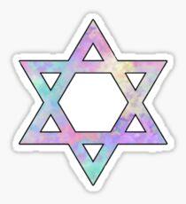 Colorful Jewish Star Sticker