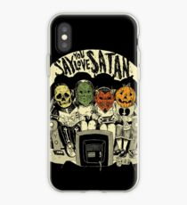 Say You Love Satan 80s Horror Podcast Logo iPhone Case