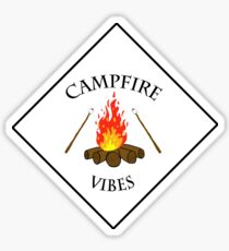 Campfire Vibes Summer PNW Hiking Camping  Sticker