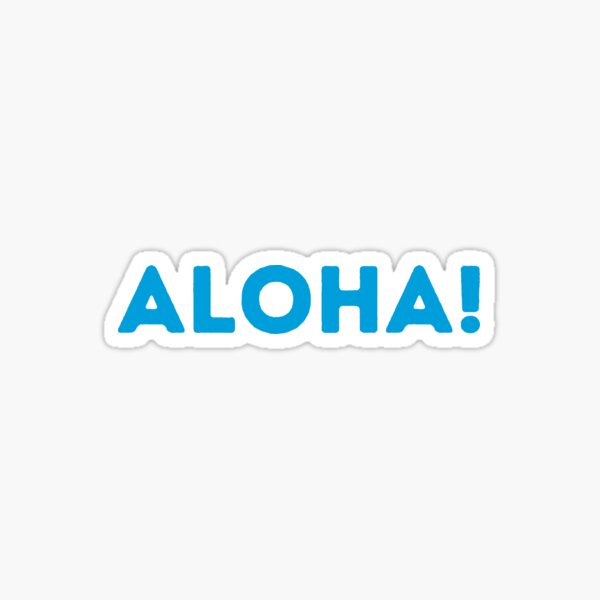 Salesforce Aloha - The Greetings Sticker