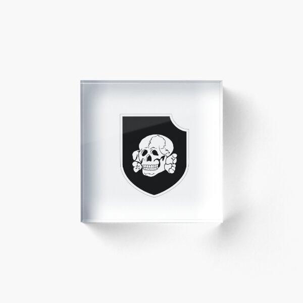 skull insignia Acrylic Block