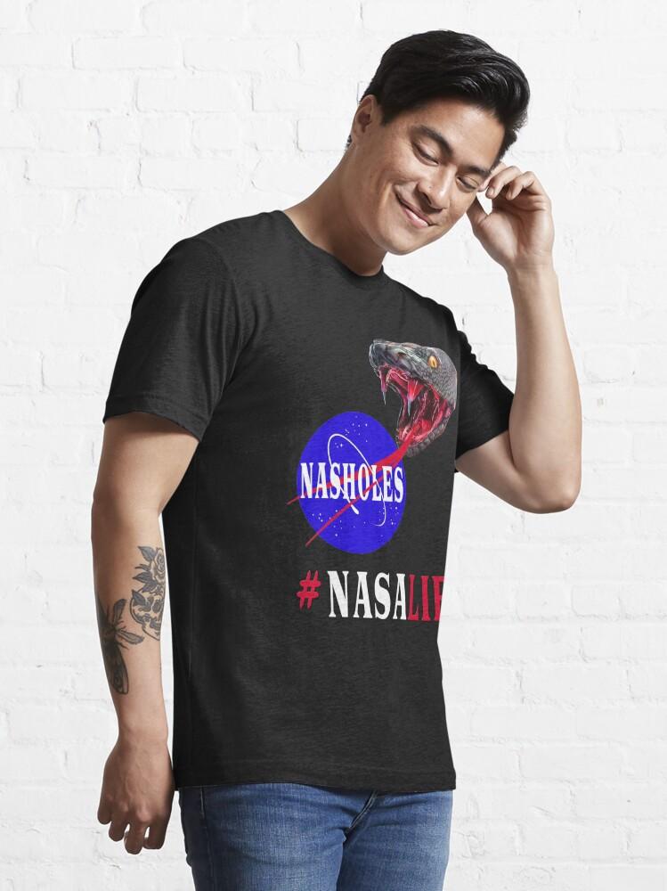 Alternate view of NASA Lies - NASHOLES  Essential T-Shirt