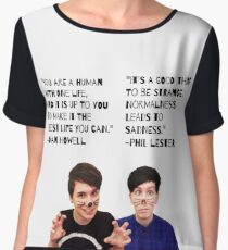 Dan and Phil Quotes Women's Chiffon Top