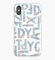 blue alphabet iPhone Case/Skin