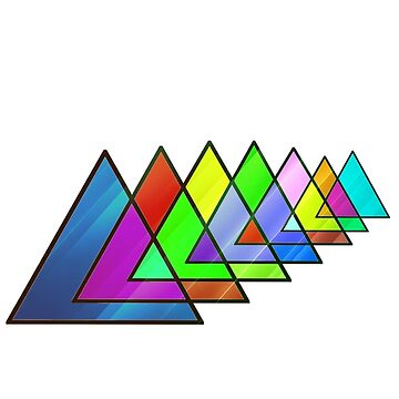 Abstract Triangles by FusionsStudio