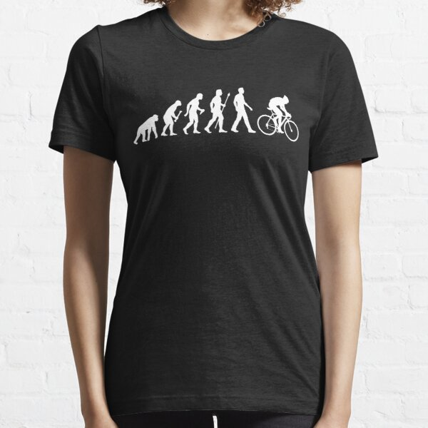 Evolution Of Man Cycling Essential T-Shirt