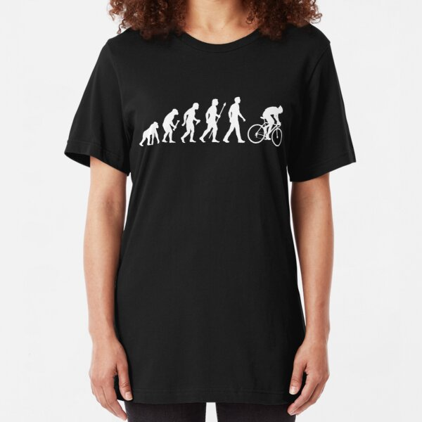 Evolution Of Man Cycling Slim Fit T-Shirt