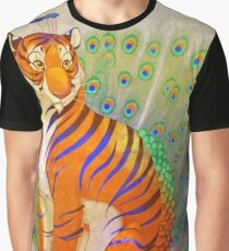 Peacock Tiger Graphic T-Shirt