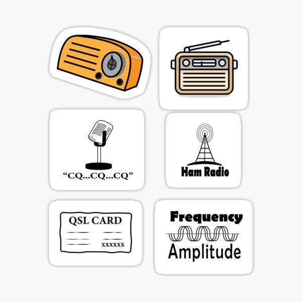 Paquete de pegatinas de radio HAM - Paquete de pegatinas para entusiastas de la radio HAM Pegatina