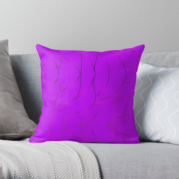 Ornamental Pattern With Purple Color Throw Pillow