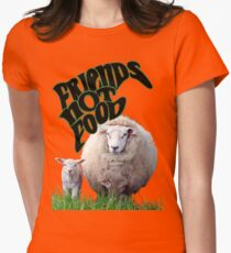 Vegan Victor - Friends Not Food Womens Fitted T-Shirt