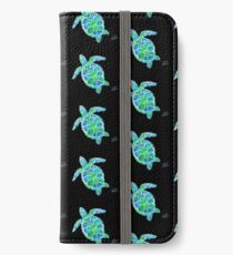 Sea Turtle no splots by Jan Marvin iPhone Wallet/Case/Skin