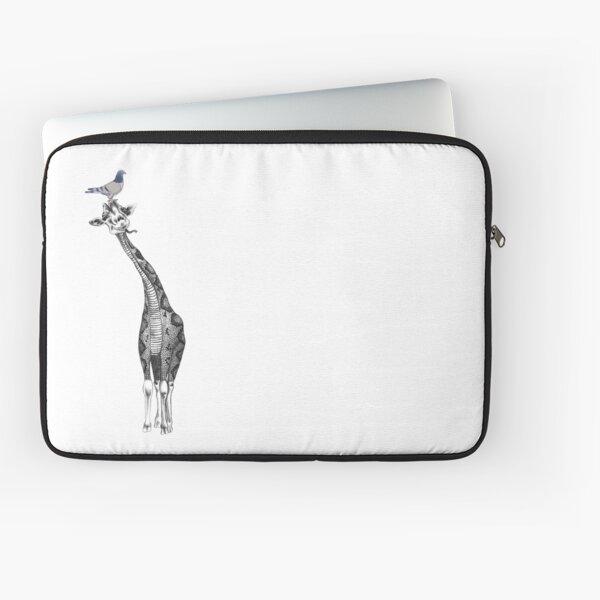 Pigeon and Giraffe Laptop Sleeve