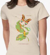 Papilio Insulaeinfanum praegrandis (モスラ) Womens Fitted T-Shirt