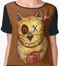 Chip the Cat Chiffon Top