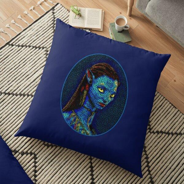 Neytiri Oval Frame Floor Pillow