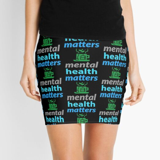 mental health campaign, mental health matters. green tea Mini Skirt