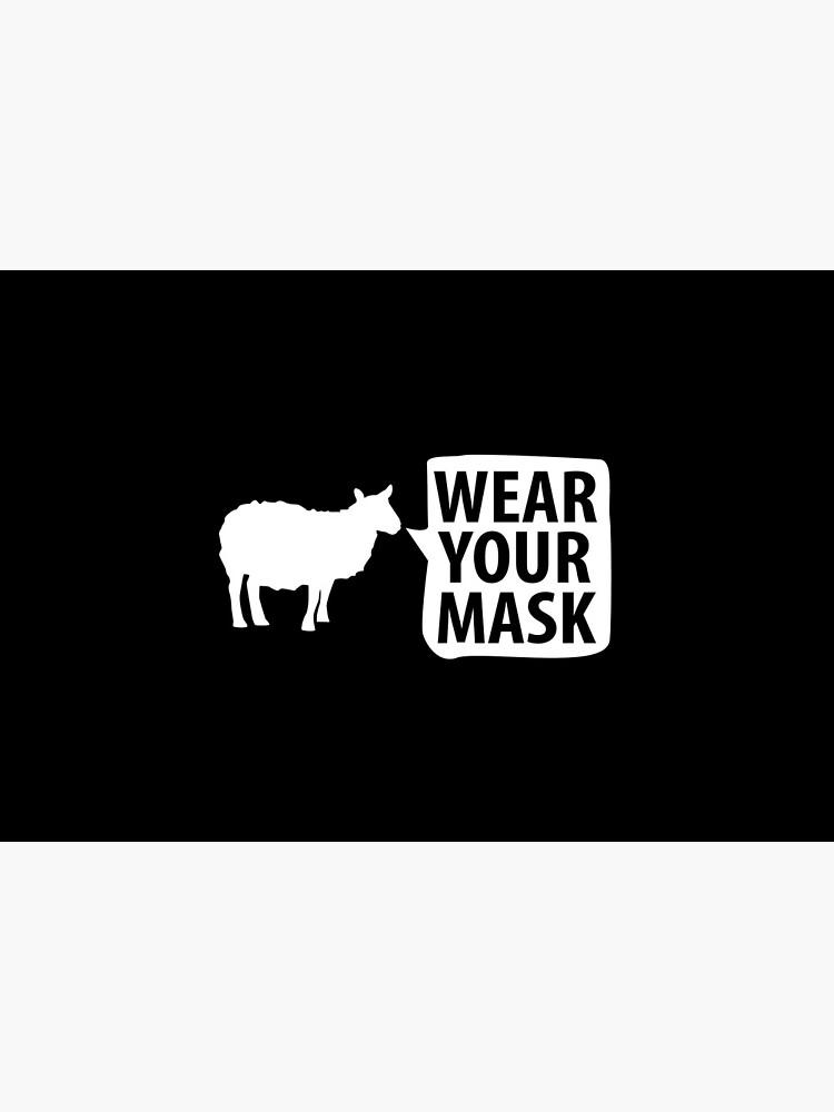 "Sheep NPC ""Wear Your Mask"" lemming Coronavirus covid anti mask covid19 Totalitarian 1984 Troll  by question-it"