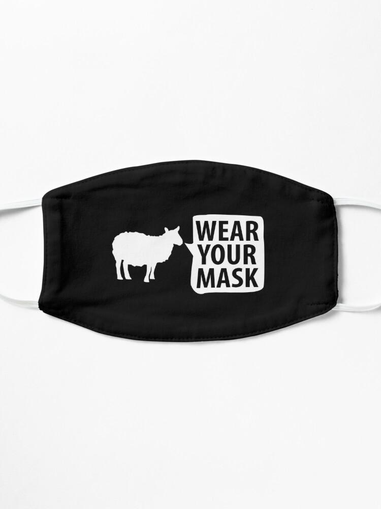 "Alternate view of Sheep NPC ""Wear Your Mask"" lemming Coronavirus covid anti mask covid19 Totalitarian 1984 Troll  Mask"