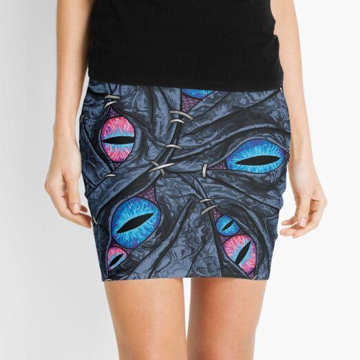 Black Stitch Mimic Mini Skirt