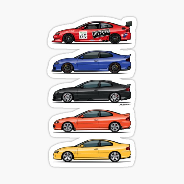 Stack of Holden Monaros Sticker