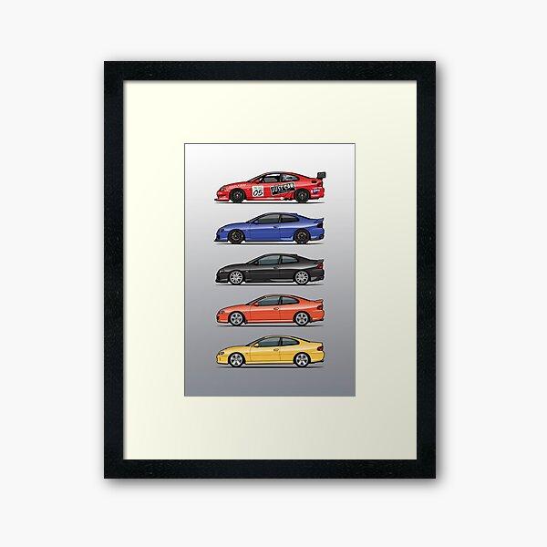 Stack of Holden Monaros Framed Art Print