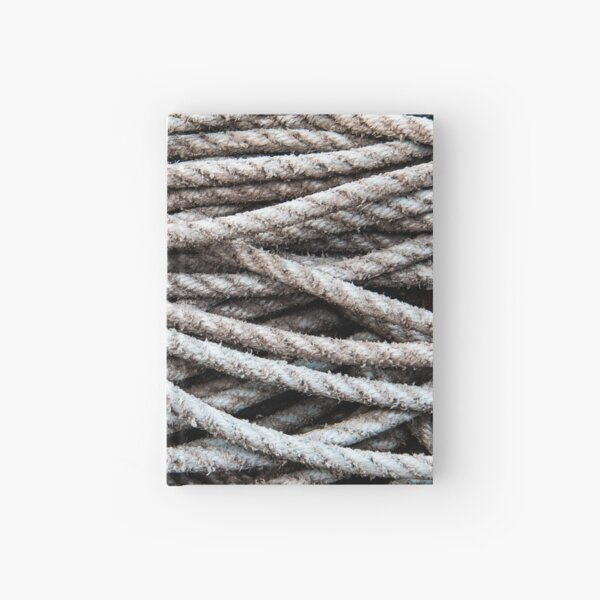 Tangled Ropes at Seahouses Harbour Hardcover Journal