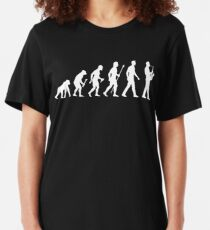 Funny Saxophone Evolution Of Man Slim Fit T-Shirt