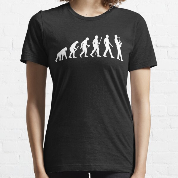 Funny Saxophone Evolution Of Man Essential T-Shirt