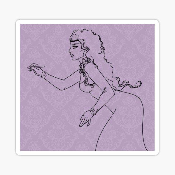 Lavender Damask Sticker