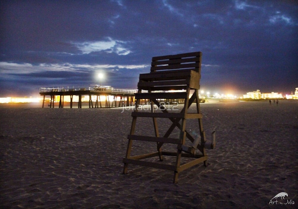 Lifeguard Stand & Pier by juliadip812