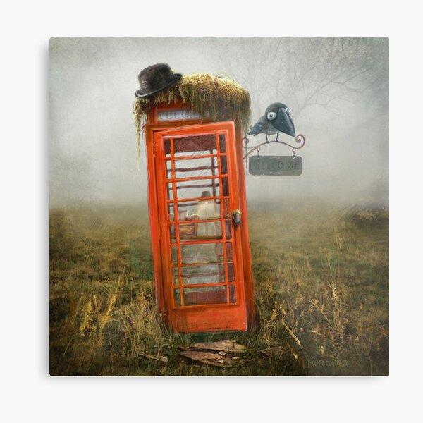 Phonebox Cottage Metal Print