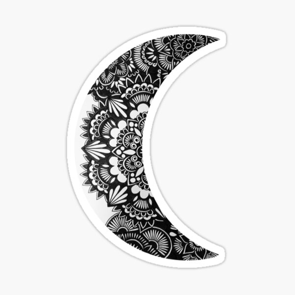 Henna Crescent Moon Sticker