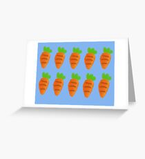 Oil Pastel carrots pattern Greeting Card