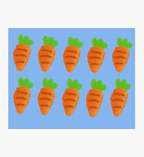 Oil Pastel carrots pattern Photographic Print
