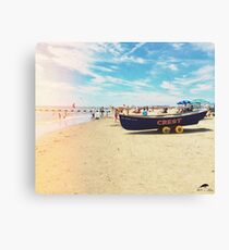 Wildwood Crest Beach Boat Canvas Print