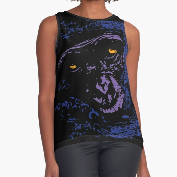 A Very Thoughtful Chimpanzee - Nocturne Sleeveless Top