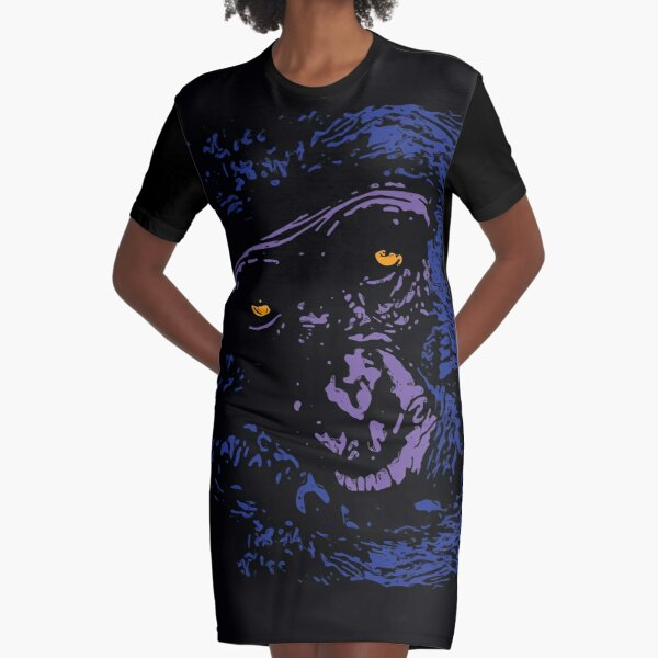 A Very Thoughtful Chimpanzee - Nocturne Graphic T-Shirt Dress