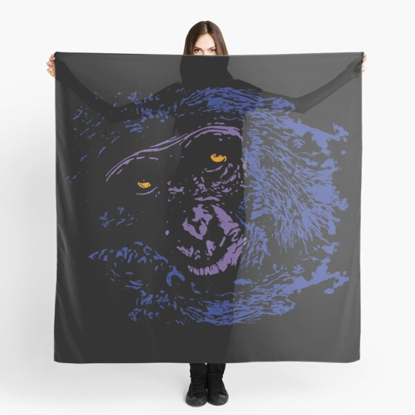 A Very Thoughtful Chimpanzee - Nocturne Scarf