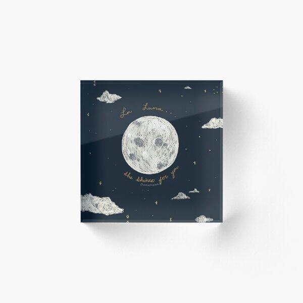 La Luna Acrylic Block