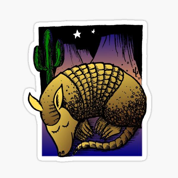 Night-Time Armadillo Sticker