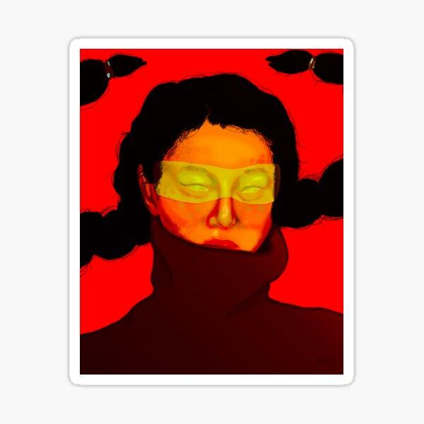 Electric Child Art Print   Cyber Punk Artwork, Futuristic Digital Art, Sci-fi Illustration, Powerful Woman, Female Portrait Sticker