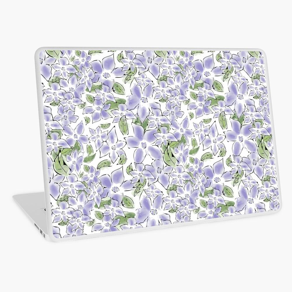 Cute Blue Periwinkle Flowers Laptop Skin