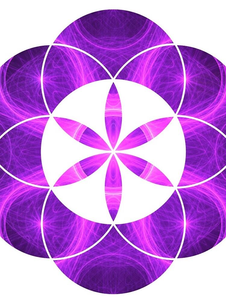 Lila Kreise | Heilige Geometrie Blume des Lebens von SirDouglasFresh