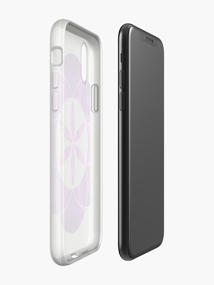 Alternative Ansicht von Lila Kreise | Heilige Geometrie Blume des Lebens iPhone-Hüllen & Cover