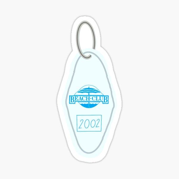 Beach Club Key Chain Sticker